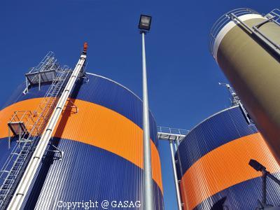 Foto Bioerdgas Anlage der GASAG in Rathenow