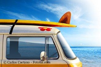 Biokraftstoffe VW Bus am Meer
