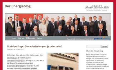 Screenshot Der Energieblog von Becker Büttner Held