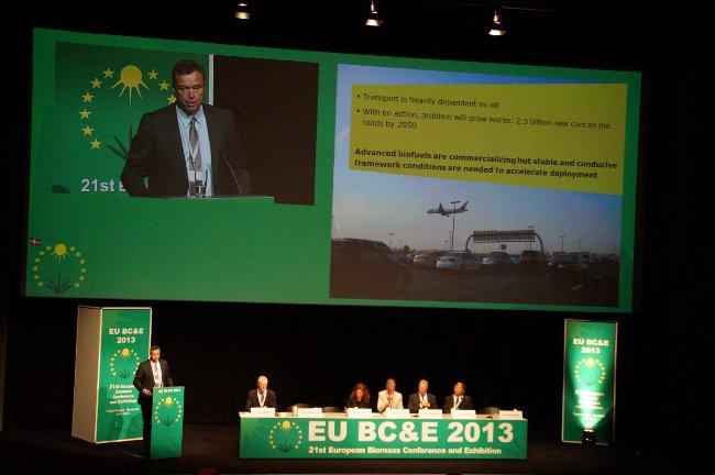 Foto CEO Novozymes auf Biomasse Konferenz Kopenhagen