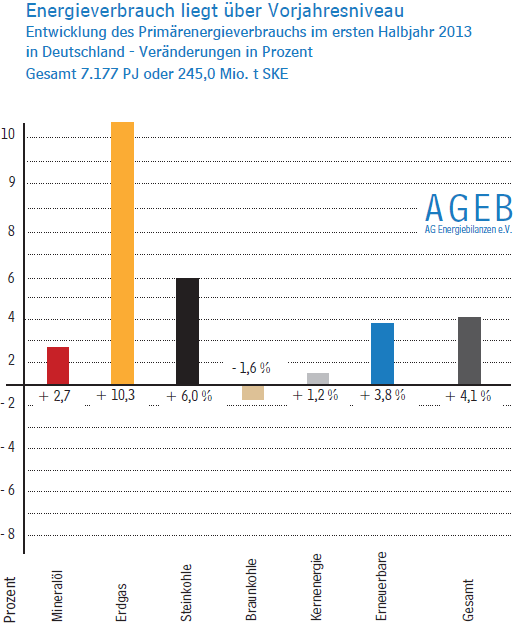 Energieverbrauch 2013 Deutschland