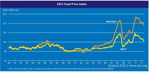 Entwicklung Nahrungsmittelpreise Preisindex FAO