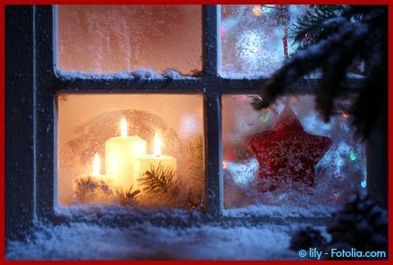 Foto Fenster Weihnachten Kerze