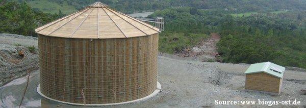 Foto Holzfermenter für Biogasanlage