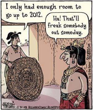 Comic Maya-Kalendar 2012 für Bioenergie Prognose Artikel