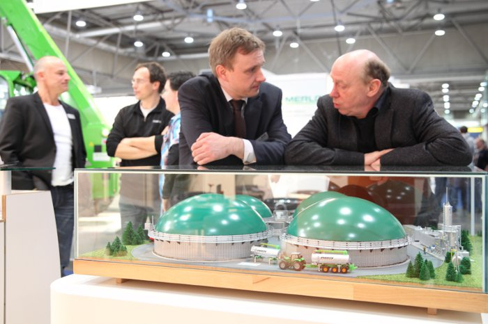 Miniatur Biogasanlage