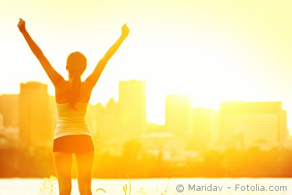 Foto: Frau zur Woche der Sonne