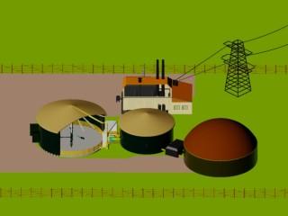 Draufsicht Biogasanlage