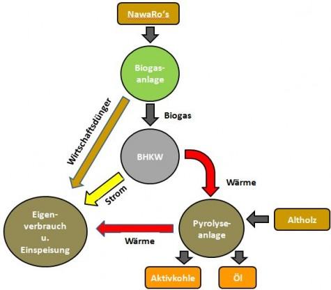 Biogas Pyrolyse Kombination