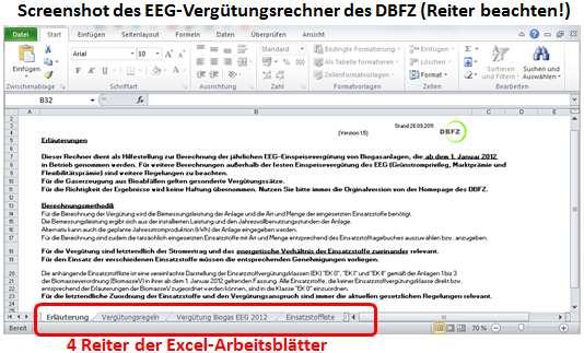 Screenshot Vergütungsrechner EEG Erklärung