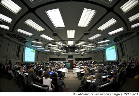 Konferenzsaal auf der Europäischen Biomasse Konferenz in Berlin