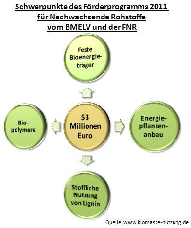 Fördermittel Fördergelder Förderung Biomasse Bioenergie NawaRo FNR BMELV