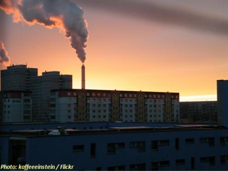 Biomasseheizkraftwerk in Berlin Lichtenberg Klingenberg von Vattenfall