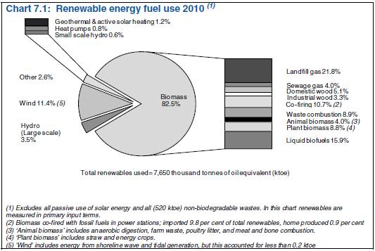 Biomasse Biogas Biokraftstoffe Großbritannien